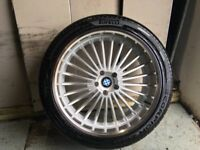 ALLOYS X 4 OF 22 INCH RANGEROVER OR DISCOVERY AS NEW WITH DIAMOND CUT AND MULTI SPOKE WITH NEW TYRES