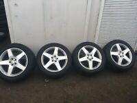 Mercedes alloy wheels Goodyear Eagle F1