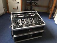Denon Twin CD Player (DN-D4500) & Denon Mixer (DN-X500) in gator carry case