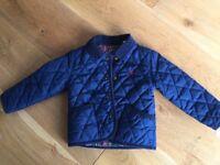 Joules navy coat 12-18m