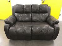Leather reclining sofa •free delivery •