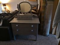 Lovely pale grey vintage upcycled dressing table and mirror £38
