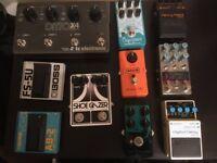 Guitar Pedals, Boss, MXR, EHX, TC Electronics, EQD