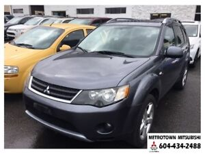 2007 Mitsubishi Outlander XLS NAVI & DVD; Local BC vehicle!