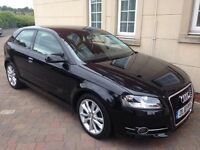 2010 Audi A3 2.0 l Sport TDI Black Full Leather Interior Heated Seats Air Con S/S Cruise Control 67k