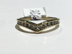 #3336 14K Y/GOLD LADIES DIAMOND WEDDING BAND *SIZE 6 3/4* APPRAISED $1,350.00 SELL $395.00 APPRAISAL INCLUDED