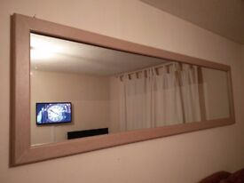 Plywood effect veneer mirror frame large -only two made
