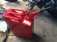 New Red 20 L Petrol Tank with Hose. Superb quality. Non-corrosive, Advanced Lock system plus Hose
