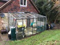 Leanto Greenhouse -BACO aluminium. (2 glass panels broken)