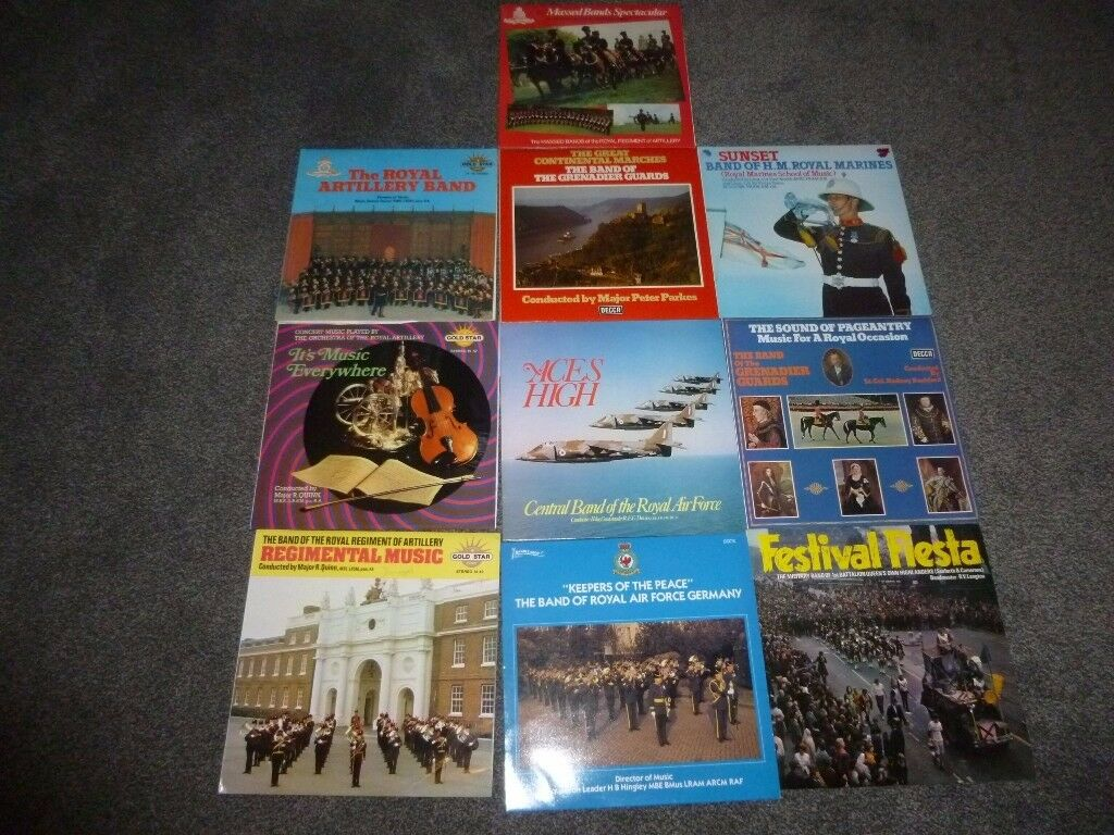 Collection of Military Band Music on Vinyl.
