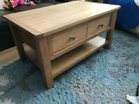 Nearly New Solid Pine/Oak Coffee Table
