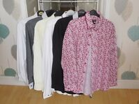 "Mens shirts 16 1/2 "" collar or large selection approx 40"