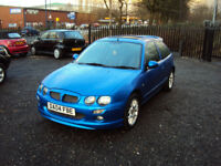 MG ZR 1.4 105 3DR HATCHBACK BLUE SUNROOF CD LEATHERS LOW MILEAGESERVICE HISTORY MOT 2KEYS MG KIT