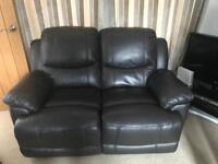 2 Seater recliner and electric recliner chair