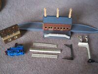 Model railway scenery & clockwork Thomas.