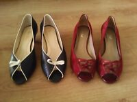2pair ladies shoes size 6