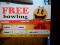 Bowling ticket for 4