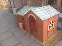 Play house, plastic, needs a good clean, some damage.