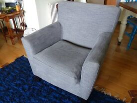 Ikea sofa and chair for sale.