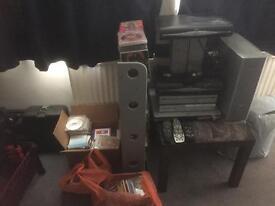 Mega bundle is cds dvds , sky boxes DVD player and sky remotes