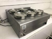Commercial Catering 6 pots bain marie Moffat Cook-X6 Food Lamps Warmers