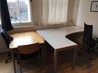 Oak ikea desk
