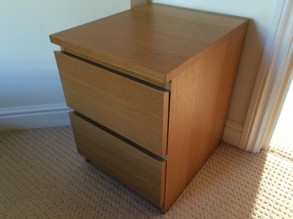 ikea malm oak veneer chest of 6 buy sale and trade ads. Black Bedroom Furniture Sets. Home Design Ideas