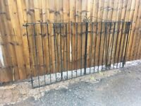 Set Of Wrought Iron Driveway Gates 8ft X 4ft Can Deliver ring malc