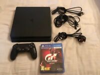 PS4 slim 500gb.Boxed.Excellent condition with all cables, controller+gran turismo sport.CAN DELIVER