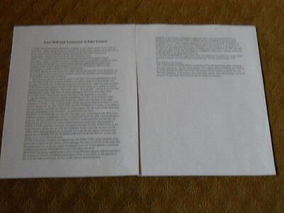 John Lennon's Last Will And Testament (copy)