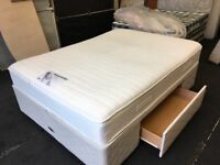 Very Clean Myers 5ft memory topper storage divan set (FREE DELIVERY)