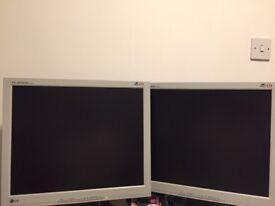 Dual LG FLATRON L1915S 19-inch LCD monitors £75
