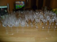 crystal glasses and others