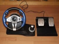 Triformat Topdrive RF Wireless Gaming Wheel & Pedals