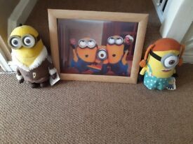 Minion 3d picture and soft toys