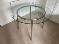 IKEA Salmi Glass round dining table