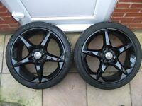 "Vauxhall 18"" Inch SRI Penta Alloys With Tyres x2. Astra/Zafira/Vectra/Signum..W0W"