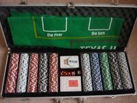 New 500 Chip Poker Set