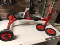 Tandom child's tricycle and single seat tricycle