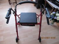 Drive Mobility Rollator R6 Red.