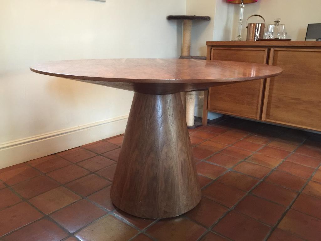 round walnut dining table. Dwell Round Walnut Dining Table O