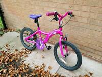 Girls Apollo Star bike. 18 inch wheels.