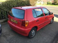 VW POLO RED 1999 1.4L 63,500 MILES POWER STEERING SUNROOF CD PLAYER EXCELLENT RUNNER MOT END DEC 17