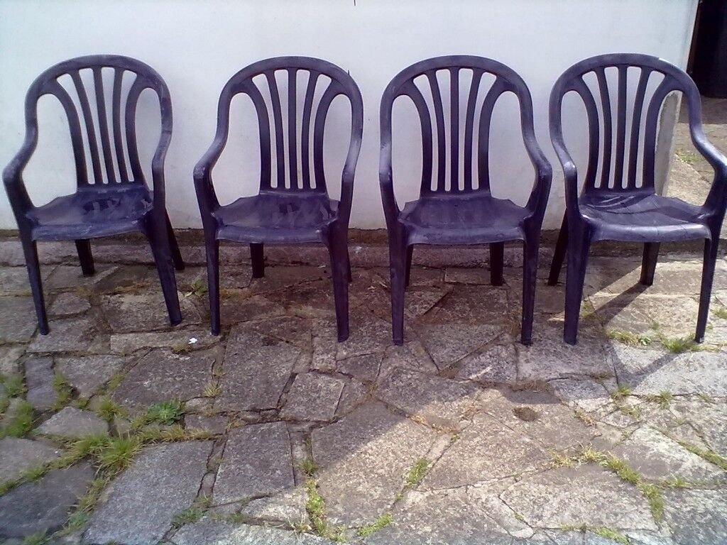 Garden chairs x 4 roundhay park leeds 8 can deliver