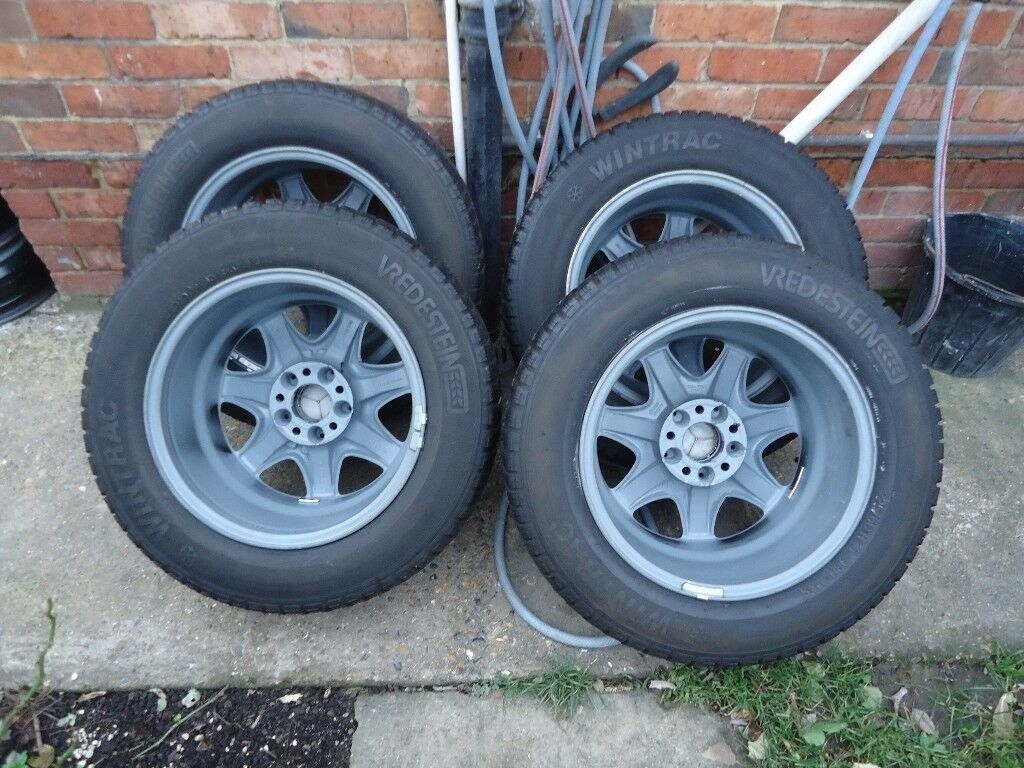 4 x16 GENUINE MERCEDES AlLOY WHEELS AND WINTER