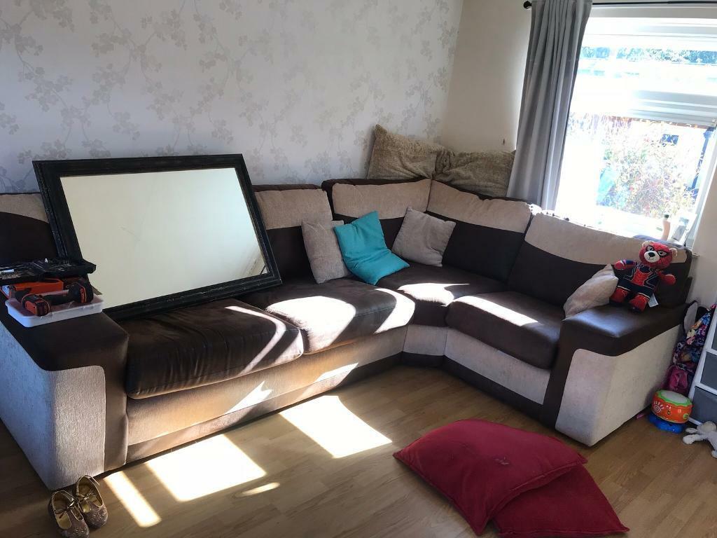 Fine Suede Corner Sofa In Milton Keynes Buckinghamshire Gumtree Machost Co Dining Chair Design Ideas Machostcouk