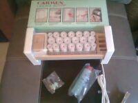 Carmen Cascade 20 Heated Rollers/ Vintage Retro Hair Styling