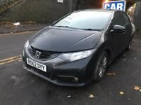 HONDA CIVIC MK9 DIESEL 2.2 BLACK 2012 BREAKING FOR PARTS