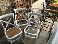 Five Bentwood Chairs for refurbishment