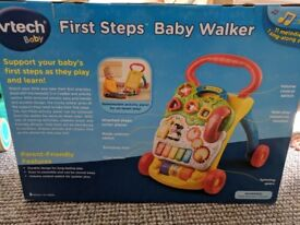 VTech First Steps Baby Walker (brand new, unopened)
